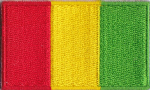 Guinea Embroidered Flag Patch, style 04